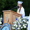 "Danvers High School senior class president Catherine Curran stated in the Class Officers' speech, ""In tragedy, we have risen above, and we have shown the Danvers community and the community at large that we are strong, Danvers Strong."" DAVID LE/Staff photo. 6/7/14."