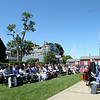 A Naturalization ceremony for a small group of new United States citizens took place on the back lawn of the House of Seven Gables in Salem on Friday afternoon. DAVID LE/Staff photo. 6/27/14.