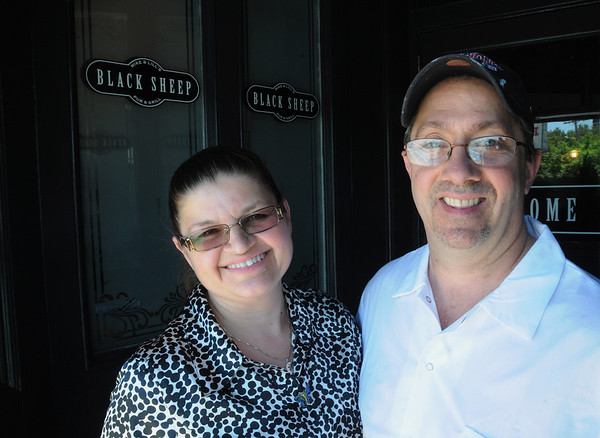 KEN YUSZKUS/Staff photo. Lill and Mike Chalifour are owners of the newly opened Black Sheep Pub & Grille in Peabody.  6/2/14.