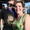 Jennifer Close, of the Peabody Essex Museum and her seven-year-old son Morgan, at the North of Boston Convention and Visitors Bureau's Sail Into Summer Fundraiser aboard the Hannah Glover on Wednesday evening. DAVID LE/Staff photo. 6/18/14.