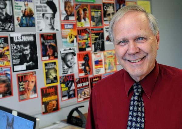 KEN YUSZKUS/Staff photo.  Danvers High teacher David Allen will retire after 46 years.   6/11/14