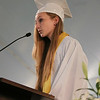 Essex Aggie Salutatorian Nicole Langlois addresses her classmates during the final Commencement ceremony for the Essex Agricultural and Technical High School. Next year Essex Aggie and North Shore Technical High School will combine into one school. DAVID LE/Staff photo. 6/5/14.