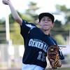 DAVID LE/Staff photo. 6/29/15. Hamilton-Wenham Williamsport Little League pitcher Carter Coffey