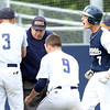 DAVID LE/Staff photo. Danvers senior captain Danny Lynch hit two home runs off North Andover starting pitcher Brendan Parisotto to lead the Falcons to a 6-3 win in the D2 North Semifinal. 6/9/16.