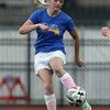 DAVID LE/Staff photo. Franklin Pierce bound Caitlyn Munzing, of Beverly, plays the ball to a teammate while playing for the North Agganis team on Tuesday evening. 6/28/16.