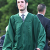 Marblehead's Tyler Merullo walks confidently across the dias, after receiving his diploma from the Carpentry program at Essex Tech.<br /> <br /> Photo by joebrownphotos.com