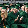 Graduates of Essex  North Shore Agricultural and Tech School applaud as their classmates  begin to get their diplomas.<br /> <br /> Photo by joebrownphotos.com