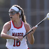 DAVID LE/Staff photo. Masco junior Grace Fahey (16) looks to make a pass against Danvers in the D1 North quarterfinal on Thursday afternoon. 6/2/16.