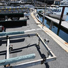 KEN YUSZKUS/Staff photo.    Boat trailers crowd the Beverly public waterfront corridor.  06/30/16