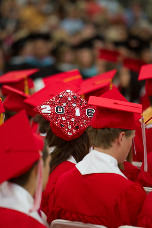 2016, Masconomet Regional High School graduation, Friday, June 3rd, 2016. JARED CHARNEY/Photo.<br /> June 3, 2016