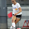 DAVID LE/Staff photo. Bishop Fenwick's Ellen Fantozzi plays the ball across the pitch while playing for the South in the annual Agganis Girls Soccer classic. 6/28/16.