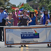 The lead marching group of the Salem Pride parade marches up Hawthorne Blvd at the start of the Pride Parade.<br /> <br /> Photo by joebrownphotos.com