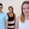 KEN YUSZKUS/Staff photo.     Peabody Learning Academy at Northshore Mall graduates from left, are Tim Swift, Brianna Bower, and Ashleigh Oberlander.     06/02/16