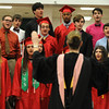 PAUL BILODEAU/Staff photo. The Choir during Salem High School's graduation ceremony in the high school's field house.