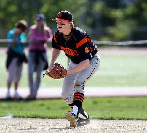 DAVID LE/Staff photo. Beverly sophomore third baseman Spencer Brown. 5/20/16.