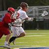 Beverly: During the North Division 2 playoff quarterfinal held at Endicott College on Saturday afternoon. Beverly beat Burlington 14-9. Beverly's Kevin Flaherty, right gets ahead of the Burlington pack. Photo by Allegra Boverman