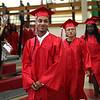 HADLEY GREEN/ Staff photo<br /> Graduating seniors walk into the Salem High School graduation ceremony held at the Salem High field house. 6/02/17