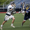 HADLEY GREEN/ Staff photo<br /> Hamilton-Wenham's Cole Dwyer (33) runs with the ball at the Hamilton-Wenham v. St. Mary's boys lacrosse Division 3 playoff quarterfinal game held at the Gordon College turf field. 6/02/17