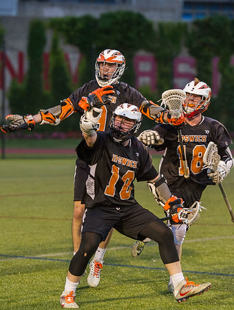 Ipswich's Pat Gillis (10) encourages fans after scoring and tying the game in the fourth quarter.