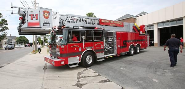 adder truck arrives at the Danvers Fire Department