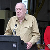 AMY SWEENEY/Staff photo. Edward O'Keefe, addresses the crowd during the dedication of the fire station in honor of his late brother. The building that houses Salem Fire Engine 5 was dedicated to Joseph O'Keefe, a beloved city official who died in September 2015. He had a long and celebrated tenure on City Council. O'Keefe also served as state fire marshal from 1977 to 1992.