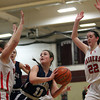Hamilton-Wenham guard Molly Eagar (11) tries to make a play in the middle of the Watertown defense on Thursday evening in the D2 North Semifinal at Chelmsford High School. DAVID LE/Staff photo 3/6/14
