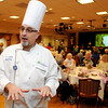 Ken Yuszkus/Staff photo: Peabody:  Michael Ayers is the executive chef at Brooksby Village where chefs prepared sample foods for visitors to try during the Taste of Brooksby.