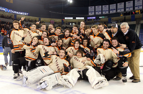 The Beverly Panthers captured their first D2 North Title with a dominating 9-1 win over Tewksbury at the Tsongas Center in Lowell on Monday evening. Beverly will advance to the D2 State Final to be played next Sunday at the TD Garden where the Panthers will take on South Division Champion Medfield. DAVID LE/Staff photo 3/10/14