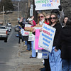 Ken Yuszkus/Staff photo: Salem: The North Shore Medical Center Nurses informational picket happened in front of the Salem Hospital Thursday afternoon.