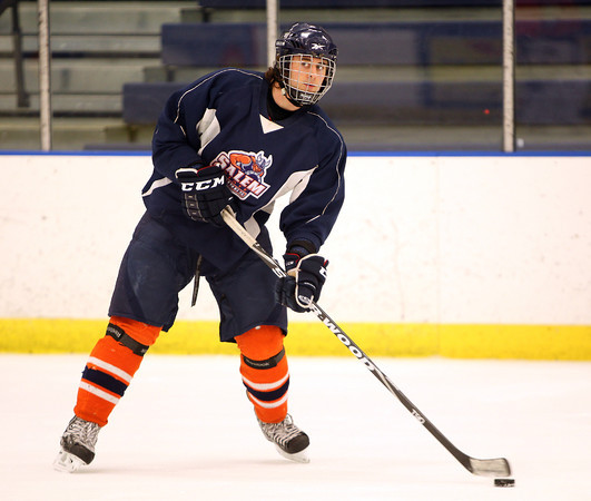 Boxford resident and Salem State defenseman Keaton Cashin and the Vikings will take on Norwich in the 1st round of the NCAA Tournament on Wednesday. DAVID LE/Staff photo 3/10/14