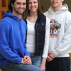 Ken Yuszkus/Staff photo: Beverly:  From left, Jack Morency, Kendel Davy and Joey Kozlowski are Beverly High student-athletes who are taking part in state DECA competition for 'Riley Rocks' this weekend.