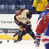 Beverly senior defenseman Jack Morency (12) rifles a shot on net against Tewksbury during the D2 North Final at the Tsongas Center at UMass Lowell on Monday evening. Beverly dominated Tewksbury 9-1 to advance to the D2 State Final to be played next Sunday at the TD Garden where the Panthers will take on South Division Champion Medfield. DAVID LE/Staff photo 3/10/14