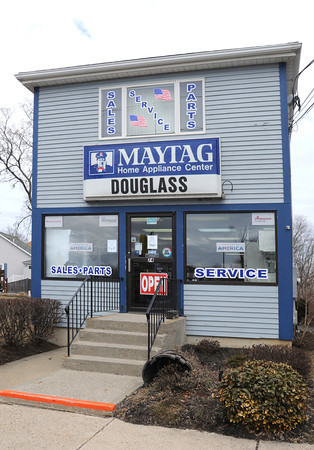 Ken Yuszkus/Staff photo: Danvers:  Douglass Appliance is at 74 High Street in Danvers.