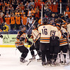 The Beverly Panthers celebrate their 9-1 win and D2 North Championship over Tewksbury at the Tsongas Center at UMass Lowell on Monday evening. Beverly will advance to the D2 State Final to be played next Sunday at the TD Garden where the Panthers will take on South Division Champion Medfield. DAVID LE/Staff photo 3/10/14