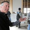 Ken Yuszkus/Staff photo: Salem:  David Pabich speaks about the old electric trolley barn he is turning into housing. He is on the 2nd floor of the building on Webster Street in Salem.