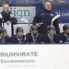 KEN YUSZKUS PHOTO: St. John's Prep head coach Kristian Hanson, left, yells orders during the St. John's Prep vs Springfield Cathedral semifinals.