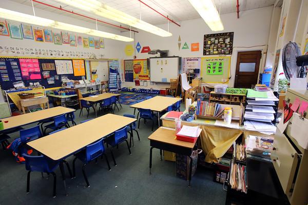 KEN YUSZKUS/Staff photo.  The kindergarten classroom at the Gerry School in Marblehead.       03/10/16