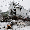 Tree into house winter storm