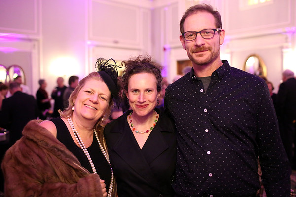 HADLEY GREEN/ Staff photo <br /> From left to right, Bobbie Bush, Kim Indresano and Brian Romer attend the Salem Film Fest opening gala at the Hawthorne Hotel on Thursday evening.