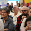 HADLEY GREEN/ Staff photo<br /> People listen while City Council members debate Salem's Sanctuary for Peace ordinance on Wednesday night at the Bentley School in Salem.