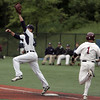 KEN YUSZKUS/Staff photo. St. John's Prep 1st baseman Sawyer Billings gets Lowell's Tyler Schermerhorn out during the Lowell at St. John's Prep in the first round of the Super 8 baseball state playoffs. 5/28/14.