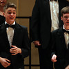 "Salem High School junior Kyle Doherty, left, and senior Derek Dupuis, sing ""Ain't Judgin' No Man"" along with the rest of the Salem High School Chamber Choir during the All-City Choral Concert on Wednesday evening at Salem High School. DAVID LE/Staff photo. 5/21/14."