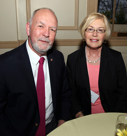 John and Ann Williams, of Marblehead, at the Catholic Charities North annual Spring Gala on Thursday evening at the Hawthorne Hotel. DAVID LE/Staff photo. 5/1/14