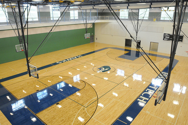 KEN YUSZKUS/Staff photo. The new gym at the new Essex Tech.      5/20/14
