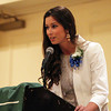 Danvers senior Allison Walsh gives opening remarks during the 46th Annual Honor Scholars Recognition Dinner held at the DoubleTree in Danver, sponsored by the North Shore Chamber of Commerce on Tuesday evening. DAVID LE/Staff photo. 5/13/14.