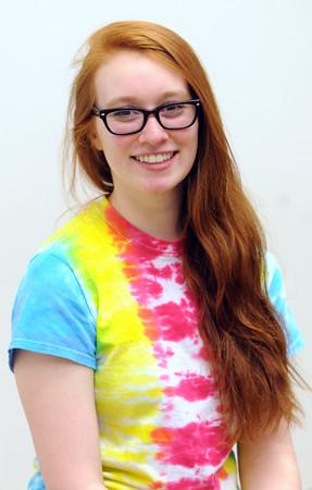 KEN YUSZKUS/Staff photo.  Peabody Veterans Memorial High Schooler Sarah Perrin .        5/12/14