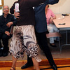 KEN YUSZKUS/Staff photo. John Archer of Archer Insurance dances with Peggy Slocum during the Dancing with the Stars competition held at the Beverly Senior Center.      5/20/14