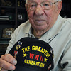KEN YUSZKUS/Staff photo. David Rosenthal was at D-Day during WWII.   5/21/14