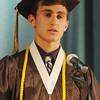 STAFF KEN YUSZKUS. Salutatorian Eric Loehle speaks at the Bishop Fenwick graduation ceremony.