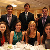 From left, 2014 Senior Honor Scholars from Bishop Fenwick, Madeline Uretsky, Steven LaRochelle, Sarah Malala, Eric Loehle, Natalie Emerson, Nicholas Coccoluto, and Arianna Maida, at the 46th annual Honor Scholars Recognition Dinner held at the DoubleTree in Danvers and sponsored by the North Shore Chamber of Commerce. DAVID LE/Staff photo. 5/13/14.